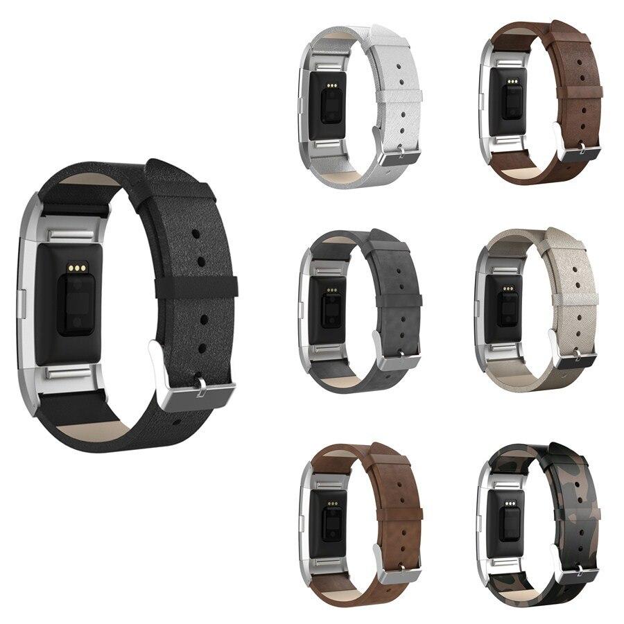LAOKE nahast bänd Fitbit laengu jaoks 2 asenduskellad Fitbit laengu jaoks 2 randme metallpea adapteriga