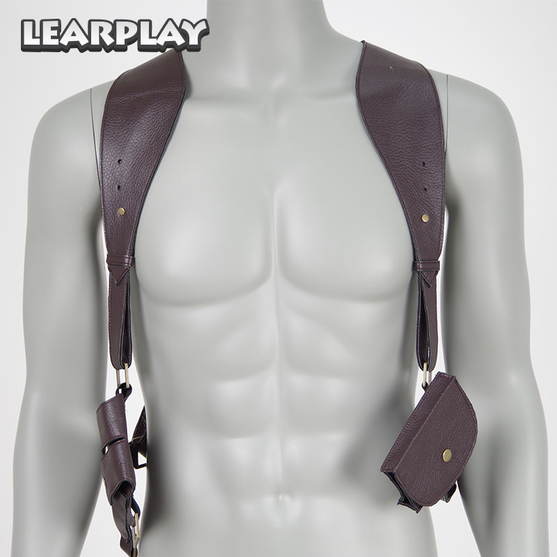 Uncharted Drakes Holster Pu leather Gun Holster Belts Cosplay Halloween Christmas Costumes Accessories