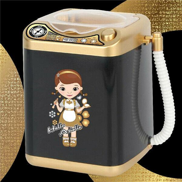 Kids Creative Novelty Mini Washing Machine Electric Pretend Toy Beauty Sponge Brushes Washer