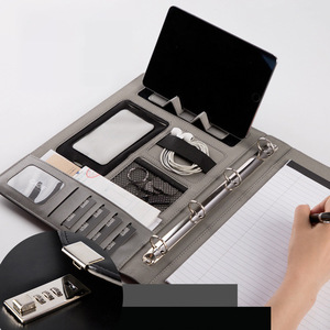 Image 1 - Fichario Binder A4 Document File Folder With Lock Business Organizer File Cabinet Holder Manager Padfolio Password Briefcase Bag