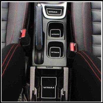 18 Uds. Cubiertas de látex para coche, autoadhesivos antideslizantes, almohadilla Interior para puerta, cubierta para taza, ranura para puerta, decoración para Suzuki VITARA 2016