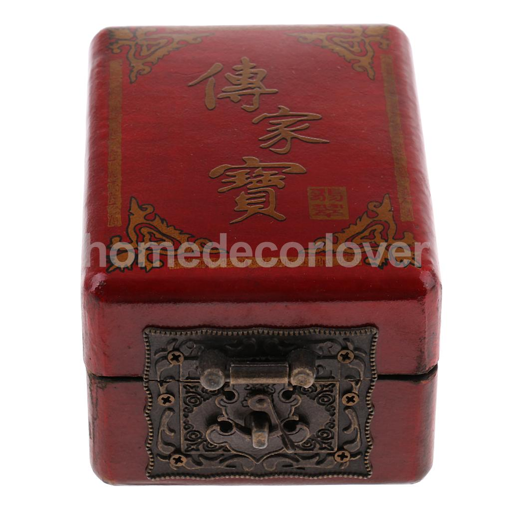 Vintage Jewelry Makeup Storage Case Box Container Keepsake Handicraft Gift Collectible for Home Office Desktop Decoration