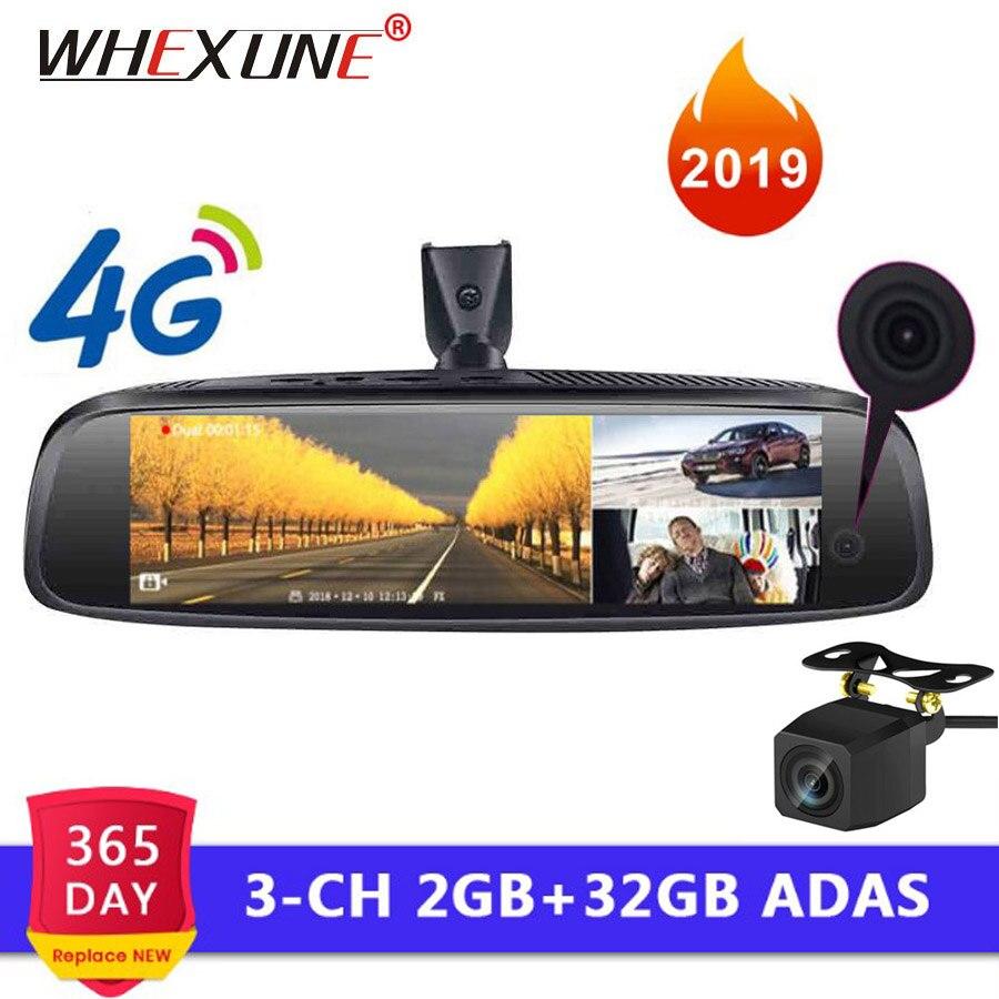 WHEXUNE 4G 3-CH voiture DVR ADAS Android rétroviseur 1080 P support spécial Auto 8
