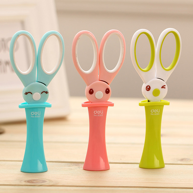 Safety-Scissors Paper-Fitting Plastic Kids School Children Scrapbooking Rabbit For Metal