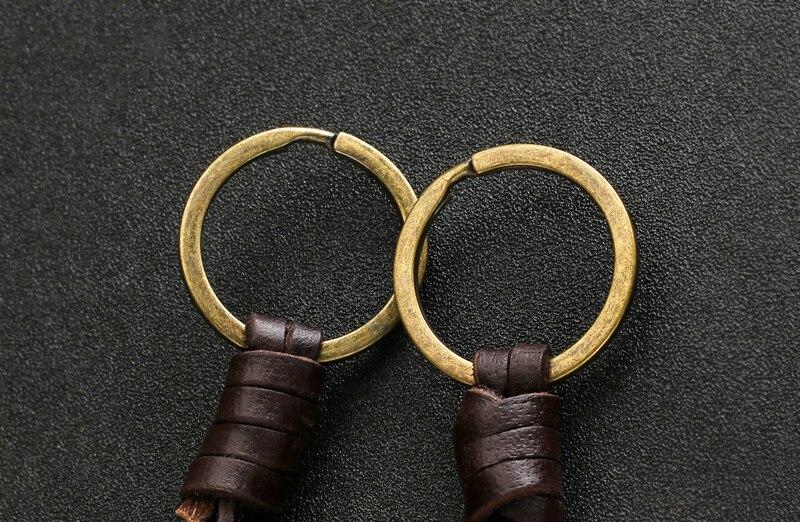 Schlüsselring mit Violinschlüssel Leder 2