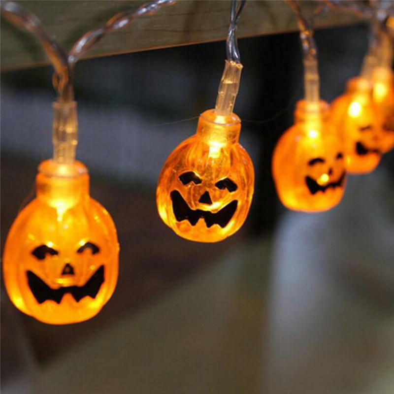 Novelty pumpkin led fairy string lights halloween party - Decorating with string lights indoors ...