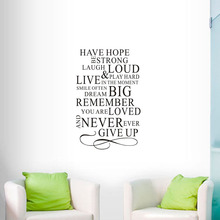 Фотография Vinyl Wall Decals Have Hope Be Strong Laugh Loud Quote Wall Stickers Text Home Decoration Accessories Poster