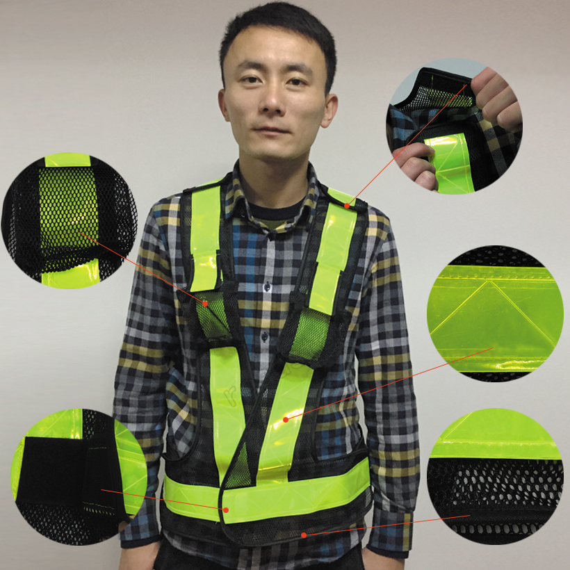 Objective Spardwear En471 High Visibility Security Vest Reflective Safety Mesh Vest Reflective Clothing Safety Clothing Free Shipping Comfortable And Easy To Wear Security & Protection Safety Clothing