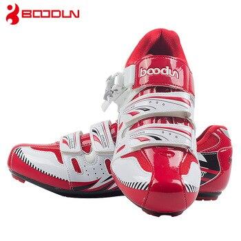 Boodun sapatos de ciclismo respirável antiderrapante profissional auto-bloqueio da bicicleta sapatos de corrida mtb estrada sapatos de ciclismo 1