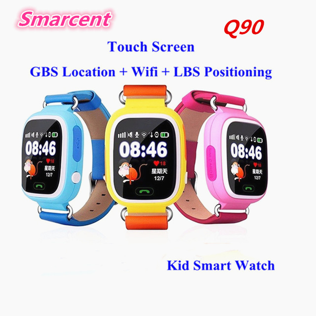 Q90 touch screen gps posicionamento wifi smart watch para crianças sos chamar Dispositivo Localizador Anti Perdido Monitor PK Q50 Q60 Q80