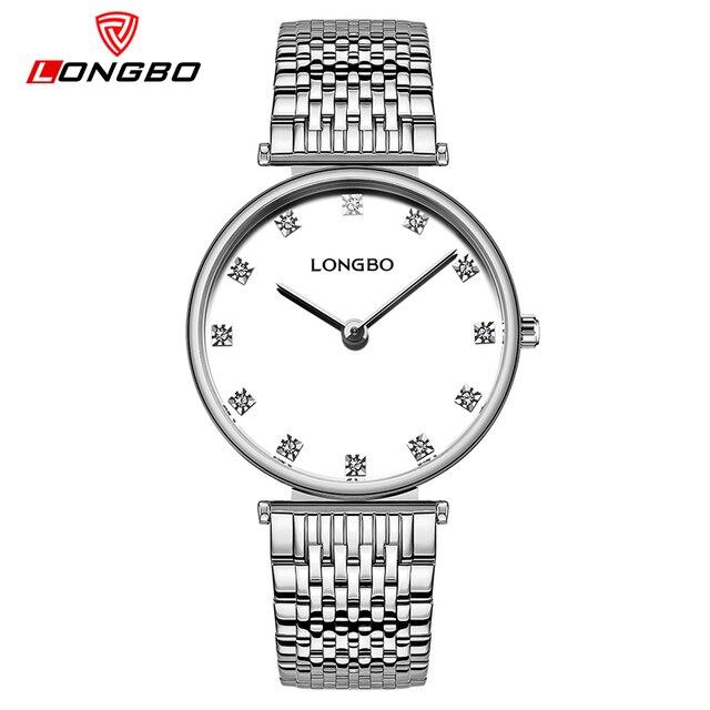 659b0ea8b58 LONGBO Relogio Feminino New Simple Steel Fashion Quartz Watch Women Gold Rhinestone  Luxury Ladies Watches Dress Luxury Clock
