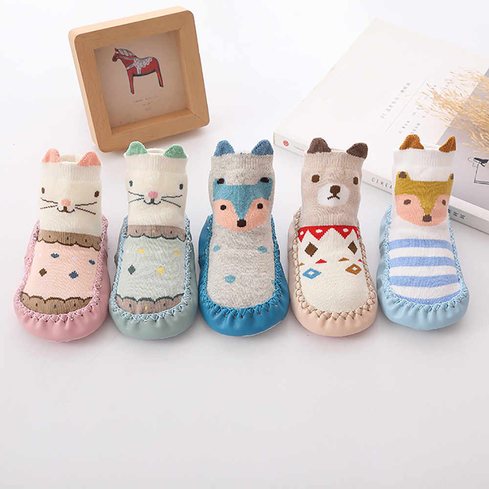 Spring and Autumn winter cartoon baby socks Baby steps non-slip Leather Sole cotton children floor socks baby socks newborn