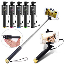 Extendable Handheld Selfie Stick Monopod Tripod for With Built-in Shutter For Android IOS iPhone 6/ 6S Plus Camera CX88