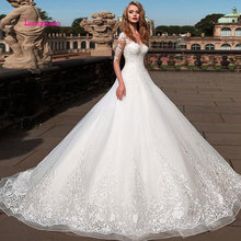 LEIYINXIANG Bride Dress Wedding Dress Ball Gown Backless
