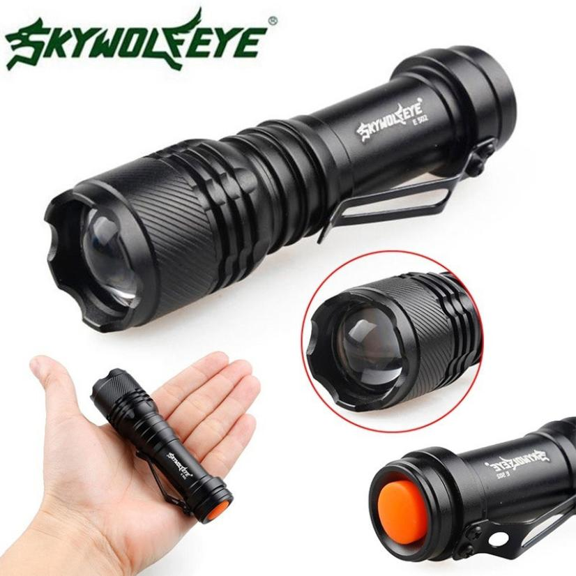 2018 Flashlight 2000LM CREE Q5 AA/14500 3 Modes ZOOMABLE LED Flashlight Torch Super Bright Super Bright F7 super bright cree q5 led waterproof torch flashlight hunting spotlight camping flashlight diving