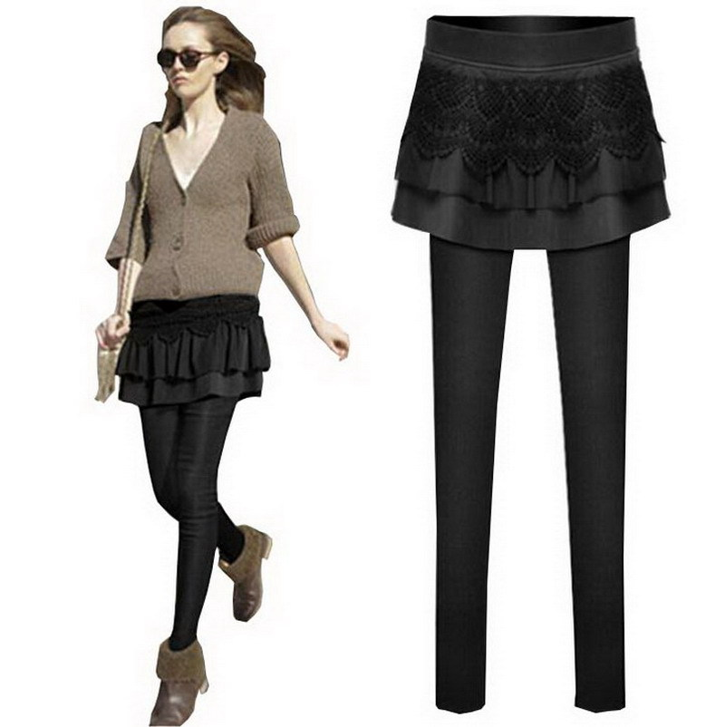 Aliexpress.com : Buy Women Black Winter Fashion Bottoms Clothing ...