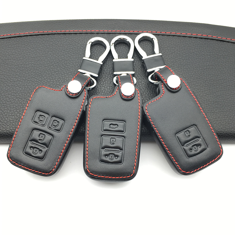 100% Leather Key Case Cover For Toyota Auris Camry Rav4 Avalon Yaris Verso Keyless Fob Shell Holder Protector 2/3/4 Buttons Online Shop