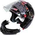 100% original LS2 half face helmet double lens full face motorcycle helmet be removed Bator combination casco capacete