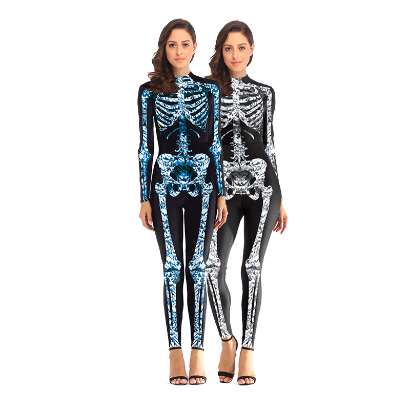 Womens' luxury Skull Ranger Cosplay Costume Party Christmas Carnival Costumes Fancy Dress FortnitedGame Cosplay Jumpsuits