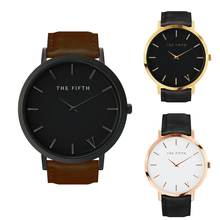 2017 Men Watch Top Brand Luxury Leather Quartz Watches Men Ultra-thin alone Second Dial  Waterproof Men Simple Watch