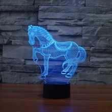 buy Running horse 3D night Light Cute Gifts For Children Novelty Led Night Light For Living Room,image LED lamps deals