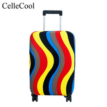 CelleCool High Qualit Luggage Cover Fashion Travel elasticity Dust cover Travel Luggage Protective Suitcase cover Trolley case rerekaxi travel elastic luggage cover suitcase protective shell trolley case dust cover 22 28 inch travel accessories