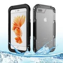 I7 i7plus i7 + IP68 Водонепроницаемый Корпус iPhone7 Идентификации Отпечатков Пальцев для Apple iPhone 7 Плюс Открытый Защита Телефон Shell Обложка