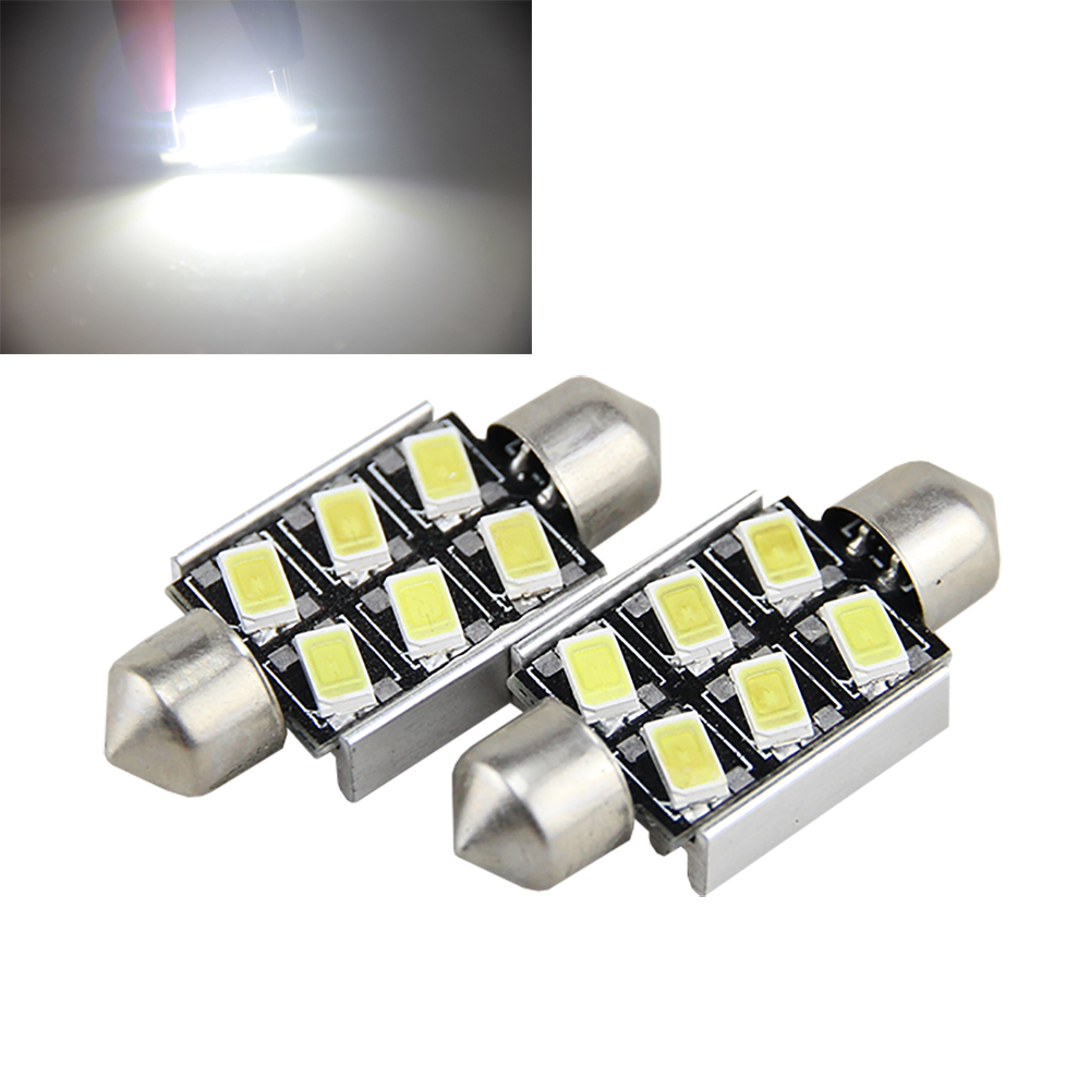 2 x 36mm No Error License Number Plate Light LED Bulbs C5W For RENAULT Megane II Renault Scenic Fluence Laguna ETC