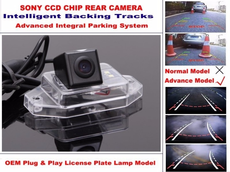 For Toyota FJ Cruiser 2007~2011 Smart Tracks Chip Camera  HD CCD Intelligent Dynamic Parking Car Rear View Camera (2)