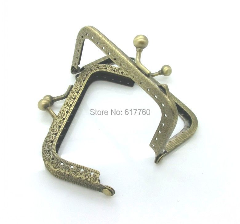 Free Shipping-2PC Metal Frame Kiss Clasp For Purse Bag Antique Bronze 8.7x5.8cm(Can Open Size:10.8x8.8cm) J2624