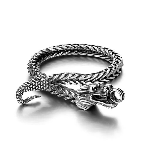 Men Shitai silver bracelet Korean male models 925 sterling silver bracelet coarse; men 925 sterling silver bracelet bracelet