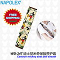 Car Accessories mickey mouse Cartoon seat belt protector  WD-247 free shipping