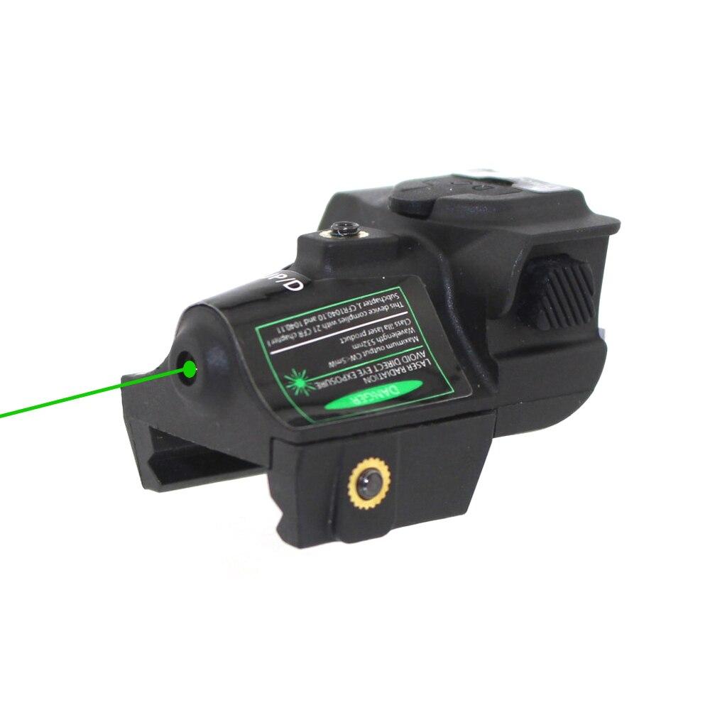 Universal Hunting Optics Green Dot Laser Sight Adjustable Mira Laser Para Pistola For Glock Shotgun Pistol Rifle