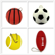 USB flash drive real capacity pen drive Football/Soccer/basketball/tennis memory stick 4GB 8GB 16GB 32GB 64GB pendrive cle usb цена