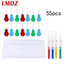 LMDZ 55Pcs Beading Needles Plug Threading String Tool Seam Ripper Thread Cutter