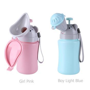 Przenośna torba na mocz dla dziewczynki chłopiec dzieci śliczne pisuar nocnik samochód toaleta samochody pisuar podróżny oddawanie moczu wielokrotnego użytku butelka Pee tanie i dobre opinie MOJOYCE Nie Wymienialnym Mężczyzna female Portable Convenient Travel Baby Urinal Kids Potty portable toilet urinal