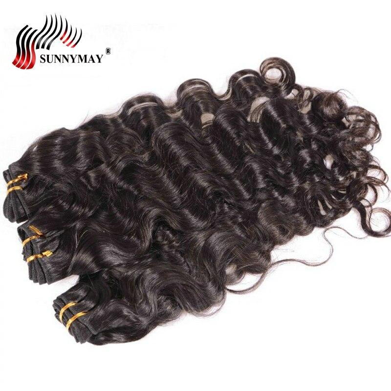 Sunnymay lâche vague profonde cheveux humains paquets 3 Pcs/Lot couleur naturelle cheveux humains armure brésilienne vierge cheveux