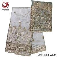 Sequins george vải ren white gold 5 yards + 2 mét lụa phi george ren vải bình thường đầm ren JKG-30