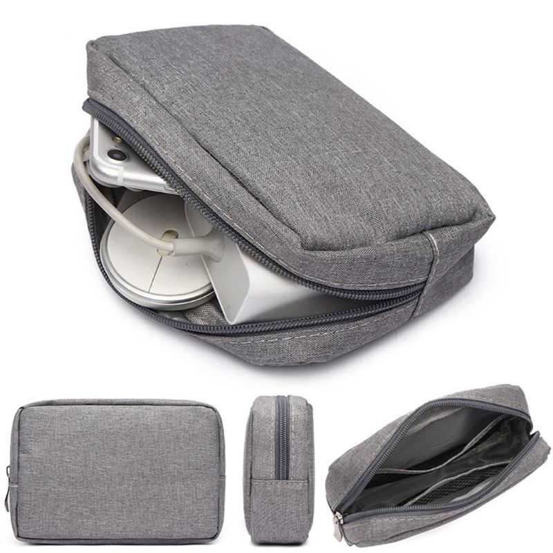 Travel Digital Storage Bag Portable USB Charger Cable Earphone Pouch Cosmetic Storage Organizer Case