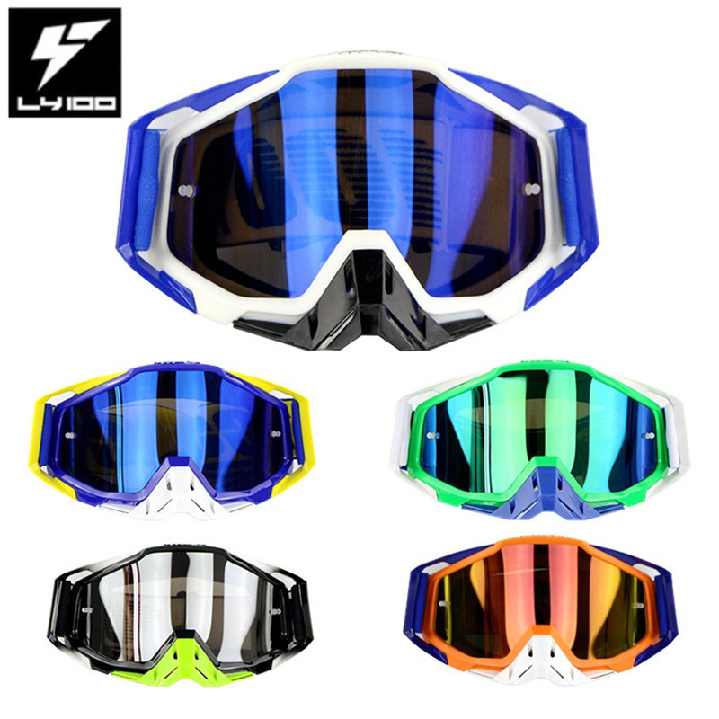 LY 100 Brand Motocross Goggles ATV Casque Motorcycle Glasses Racing Moto Bike Cycling CS Gafas Sunglasses Original Package-in Motorcycle Glasses from Automobiles & Motorcycles