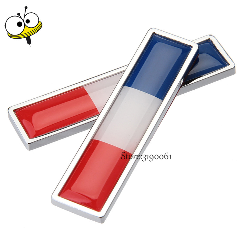 Car Styling Auto Sticker Emblem Badge Decal For France Flag Logo For Citroen C4 Peugeot 308 2008 Renault Clio Zoe Dacia VW Golf