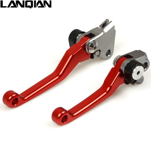 Motorcycle CNC Billet Pivot Foldable Clutch Brake Levers For HONDA XR250 MOTARD 1995-2007 CRM250R CRM250AR 1994-1999 XR400 2005-2008 Dirt Bike black