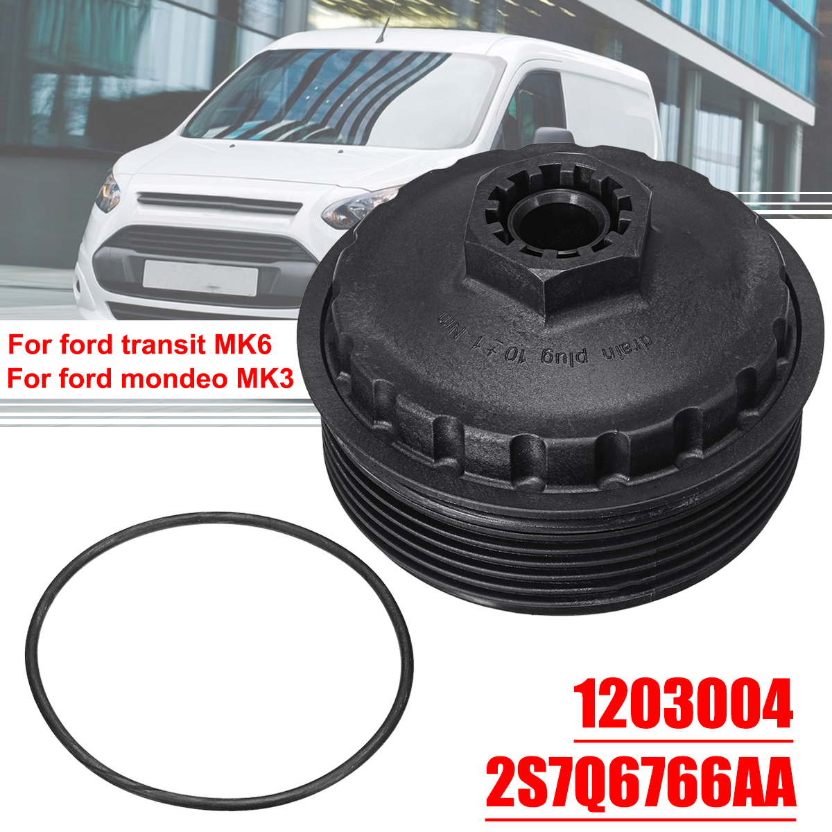 Hot Sale 2s7q6766aa Car Oil Filter Cover Cap Bowl Fuel Delivery Jaguar Housing For Ford Transit Mk6 Mondeo Mk3 X Type 2000 2007