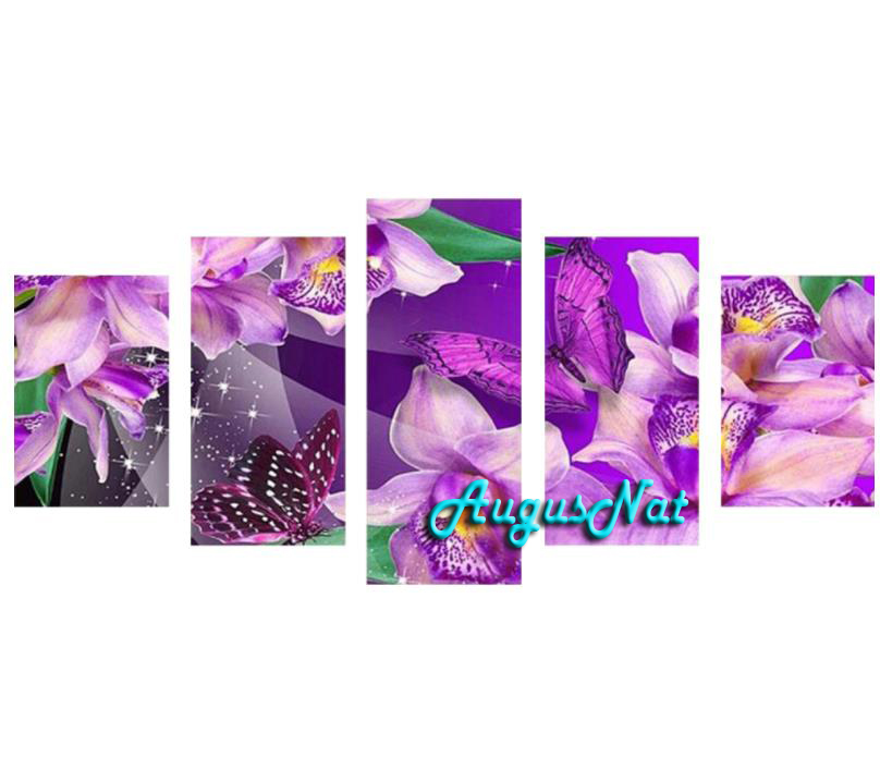 orchid diamond painting 5d diy full drill diamond stickers flower wall art rhinestone pasted poster multi-picture combinationorchid diamond painting 5d diy full drill diamond stickers flower wall art rhinestone pasted poster multi-picture combination