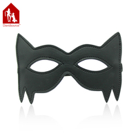 Davidsource Cat Woman Leather Mask With Elastic Band Eypatch Eye Mask Queen Role Play Restraint Slave Fetish Sex Toy
