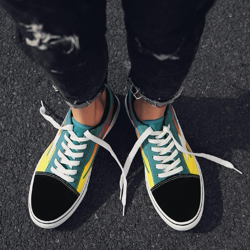Tyh78 2018 De Chaussures Hommes 2 Toile Bonne Casual Appartements Homme Qualité 1 Nouveau Mode wrUwRPq