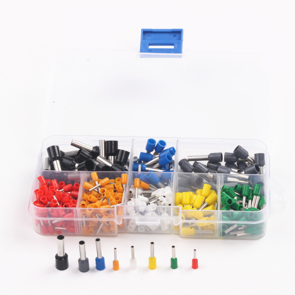 400pcs AWG 22-10 Guang Bootlace Cooper Ferrules Wire Crimp Connectors Set Insulated Cord Pin End Terminal Kit 800pcs cable bootlace copper ferrules kit set wire electrical crimp connector insulated cord pin end terminal hand repair kit