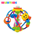 Wishtime Baby Rattle Activity Ball Toddler Sensory Teether Toy Rattle Toy Caterpillar Sterilized teether soothes baby's gum