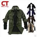 Estilo de manga larga vetement homme chemise homme primavera militar táctico clothing delgado camisa de los hombres del ejército verde caqui nueva combat
