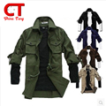 chemise homme Spring military style long sleeve vetement homme tactical clothing slim men's shirt Army Green khaki new Combat